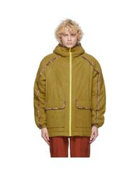 Paria Farzaneh Yellow Close Up Olivine Jacket for men