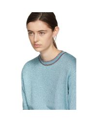 Marc Jacobs Blue Lurex Sweater