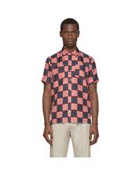 Palm Angels - Multicolor Tricolor Silk Flag Shirt for Men - Lyst