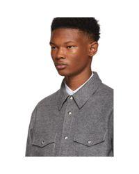 メンズ Moncler グレー Rigel シャツ ジャケット Gray