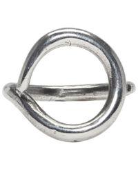 Ann Demeulemeester - Metallic Silver Organic Clip Ring - Lyst