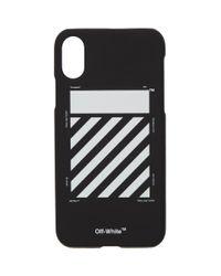 Off-White c/o Virgil Abloh Black Diagonal Iphone Xs Max Case