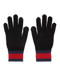 Gants noirs Logo Tag KENZO pour homme en coloris Black