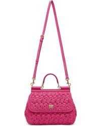 Dolce & Gabbana ピンク ミディアム Sicily バッグ Pink