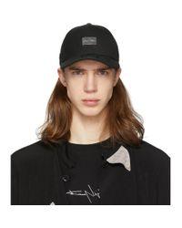 Casquette noire Metal Logo Yohji Yamamoto pour homme en coloris Black
