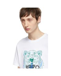 T-shirt blanc Tiger KENZO pour homme en coloris White