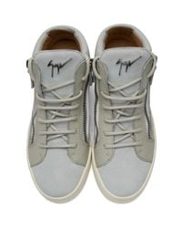 Giuseppe Zanotti Gray Grey Suede London High-top Sneakers