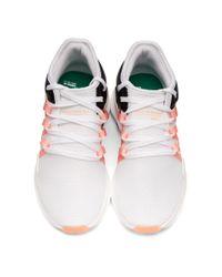 Adidas Originals ホワイト And ブラック Qt レーシング Adv スニーカー White