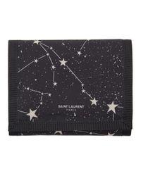 Saint Laurent Black Constellation Print Wallet for men