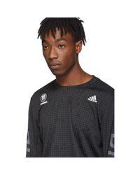 メンズ Adidas Originals Neighborhood Edition ブラック ランニング T シャツ Black