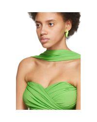 Bustier Drapé En Jersey Stretch Balenciaga en coloris Green