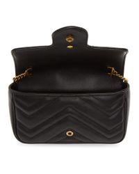 Gucci Black Super Mini GG Marmont Bag