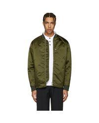 Acne Green Mylon Bomber Jacket for men