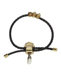 Alexander McQueen   Black Skull Friendship Bracelet   Lyst