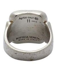 メンズ Bottega Veneta シルバー スクエア シグネット リング Metallic
