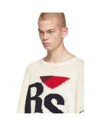 メンズ Raf Simons オフホワイト Rs セーター White