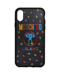 メンズ Moschino ブラック Max Magnets Iphone X ケース Black