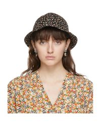 Chapeau fleuri noir edition Liberty London Gucci en coloris Black