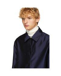 KENZO - Gray Reversible Grey Wool Jacket for Men - Lyst