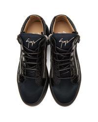 Giuseppe Zanotti Black & Navy May London High-top Sneakers for men