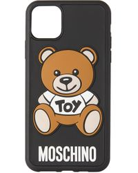 メンズ Moschino ブラック Teddy Bear Iphone 11 Pro Max ケース Black