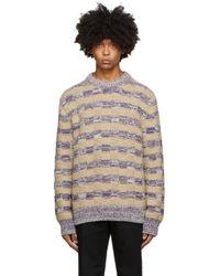メンズ Acne マルチカラー メランジ クルーネック セーター Multicolor