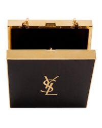 Saint Laurent Black And Gold Tuxedo Box Bag