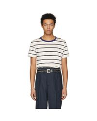 Maison Margiela Three-pack Multicolor Striped T-shirt for men