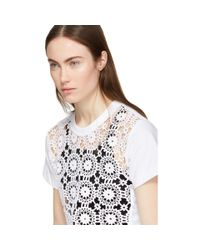 Comme des Garçons White Crochet T-shirt