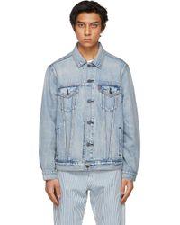 メンズ Levi's ブルー Vintage Fit デニム トラッカー ジャケット Blue