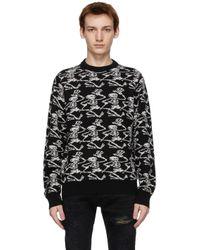 メンズ Amiri Grateful Dead コレクション ブラック & ホワイト Skeleton セーター Black
