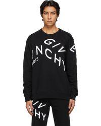 メンズ Givenchy ブラック Refracted ロゴ スウェットシャツ Black