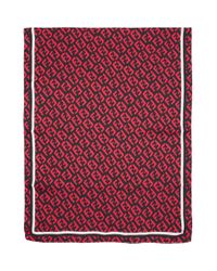 Foulard en soie noir et rouge FF Fendi pour homme en coloris Red