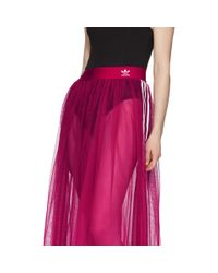 Adidas Originals ピンク チュール アディカラー スリーク スカート Pink