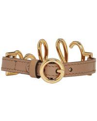 Chloé - Brown Leather Logo Bracelet - Lyst
