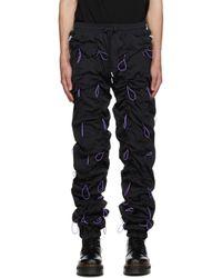 メンズ 99% Is ブラック & パープル Gobchang ラウンジ パンツ Black