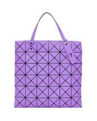 Bao Bao Issey Miyake Purple Lucent Frost Tote