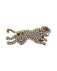 Gucci Yellow Gold Tiger Double Ring