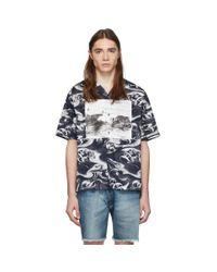 McQ Alexander McQueen Blue Navy Billy Shirt for men