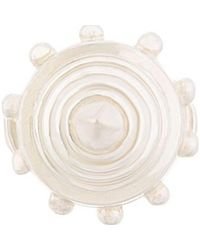 KTZ - White Silver Cone Ring - Lyst