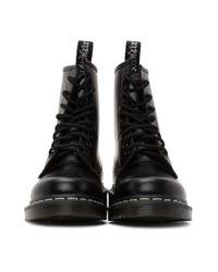 Dr. Martens ブラック 1460 コントラスト ステッチ ブーツ Black