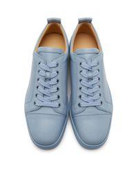 Baskets bleues Louis Junior Christian Louboutin pour homme en coloris Blue