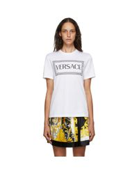Versace ホワイト 90s ロゴ T シャツ White