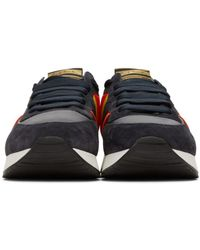 Paul Smith Blue Navy Stitch Sneakers for men