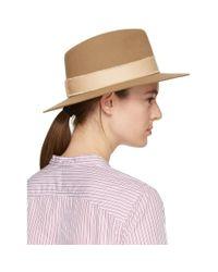 Maison Michel Natural Beige Felt Andre Hat