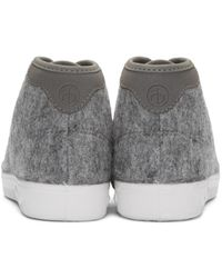 Rag & Bone Gray Grey Wool Standard Issue High-top Sneakers