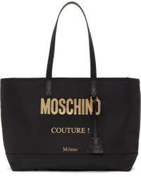 Moschino ブラック ロゴ トート Black