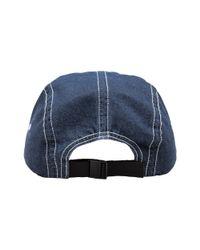 Supreme - Blue Contrast Stitch Camp Cap for Men - Lyst