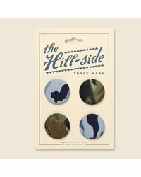 The Hill-side Multicolor Pin-back Buttons - Clouds Camo