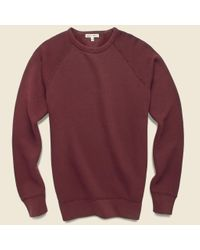Alex Mill Red French Terry Sweatshirt - Bordeaux for men